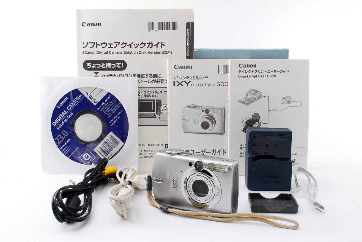 ★即決★価格交渉あり★キャノン canon ixy digital 600 デジタルカメラ<化粧箱、付属品>#1275