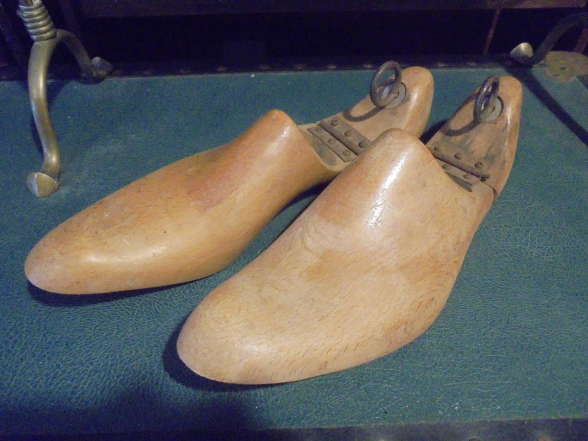 【フランス蚤の市無垢材のシューキーパー】オールドチーク靴型靴職人ヴィンテージ古着古道具アンティークインテリアインダストリアル骨董_画像3