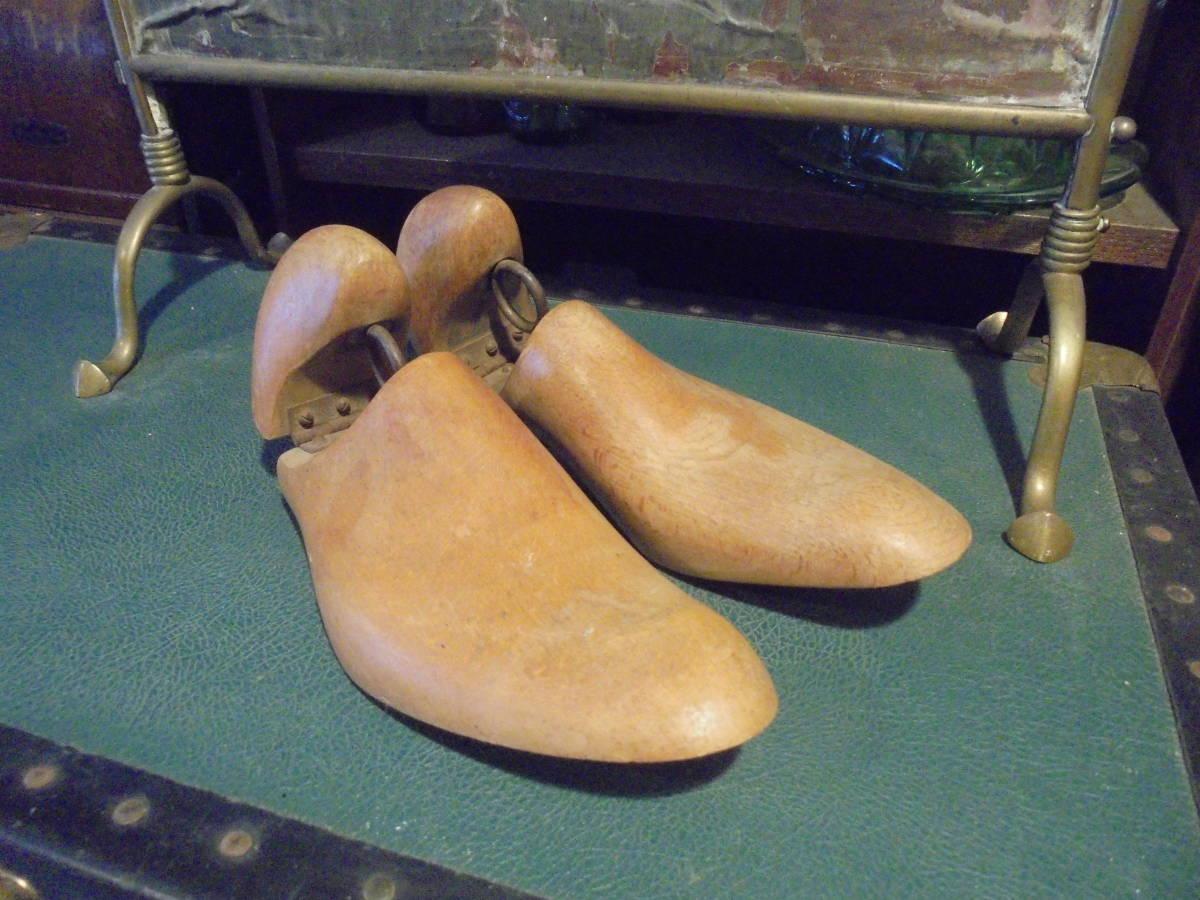 【フランス蚤の市無垢材のシューキーパー】オールドチーク靴型靴職人ヴィンテージ古着古道具アンティークインテリアインダストリアル骨董_画像4