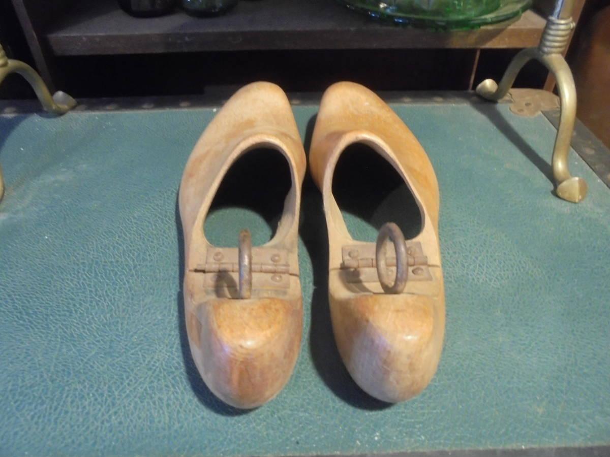 【フランス蚤の市無垢材のシューキーパー】オールドチーク靴型靴職人ヴィンテージ古着古道具アンティークインテリアインダストリアル骨董_画像5