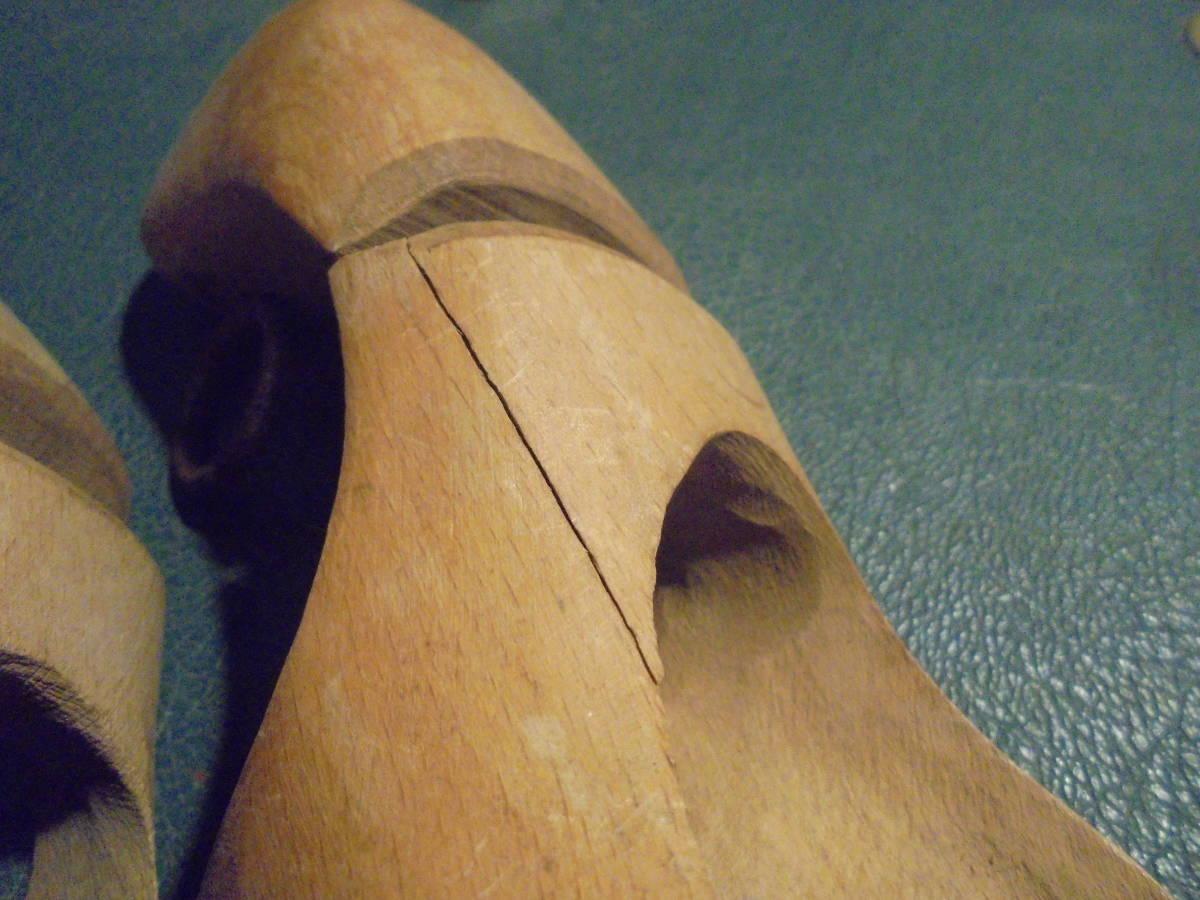 【フランス蚤の市無垢材のシューキーパー】オールドチーク靴型靴職人ヴィンテージ古着古道具アンティークインテリアインダストリアル骨董_画像8