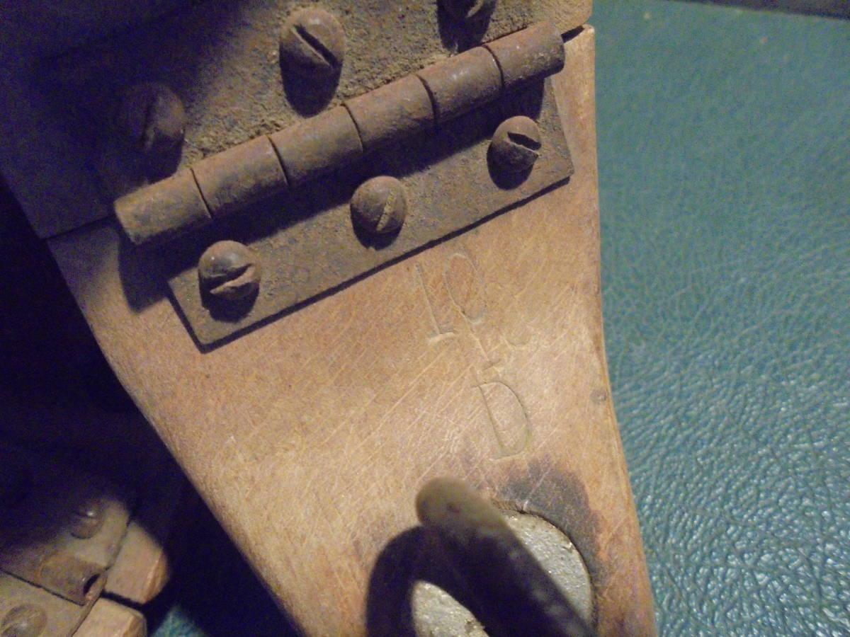 【フランス蚤の市無垢材のシューキーパー】オールドチーク靴型靴職人ヴィンテージ古着古道具アンティークインテリアインダストリアル骨董_画像10