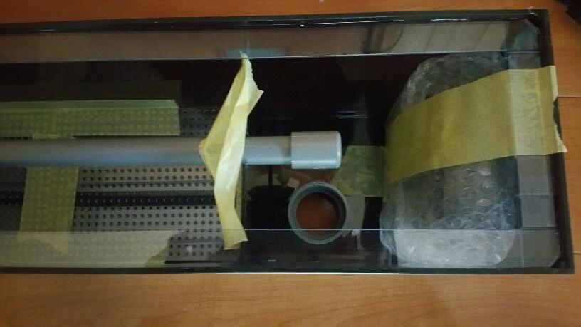 全国発送 上部フィルター,板厚3mm(1500wx250Dx250H)レーシーポンプ対応★営業所止め送料込み_画像3