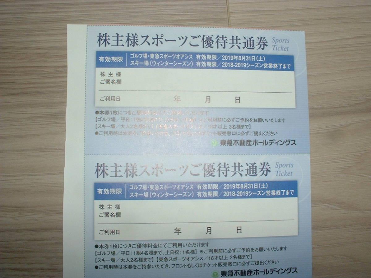 東急不動産株主優待券2枚(東急オアシス・スキー場)株主様スポーツご優待共通券