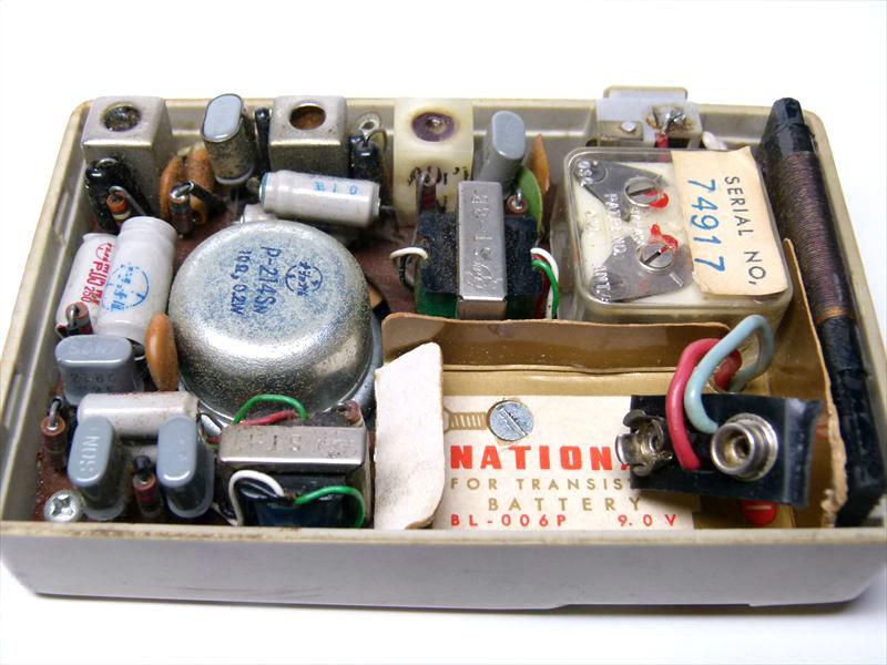 NATIONAL ナショナル ポータブルラジオ EB-145 トランジスタ ジャンク扱い_画像9