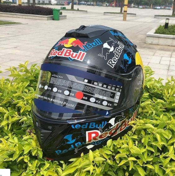 1a73331b Red Bull Motorcycle helmet full face helmet double lens black mirror men  and women personality racing full cover type レッドブル. Previous