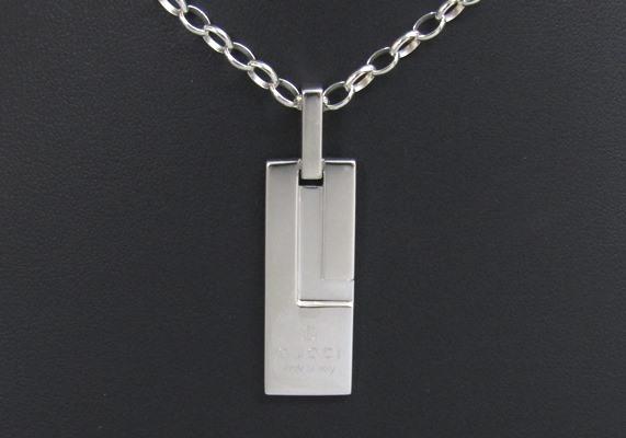 b88c73032b17 代購代標第一品牌 - 樂淘letao - [新品仕上済] GUCCI グッチ トレードマーク Gプレート シルバー 925 ネックレス  カ2XRSIAXI.SSR