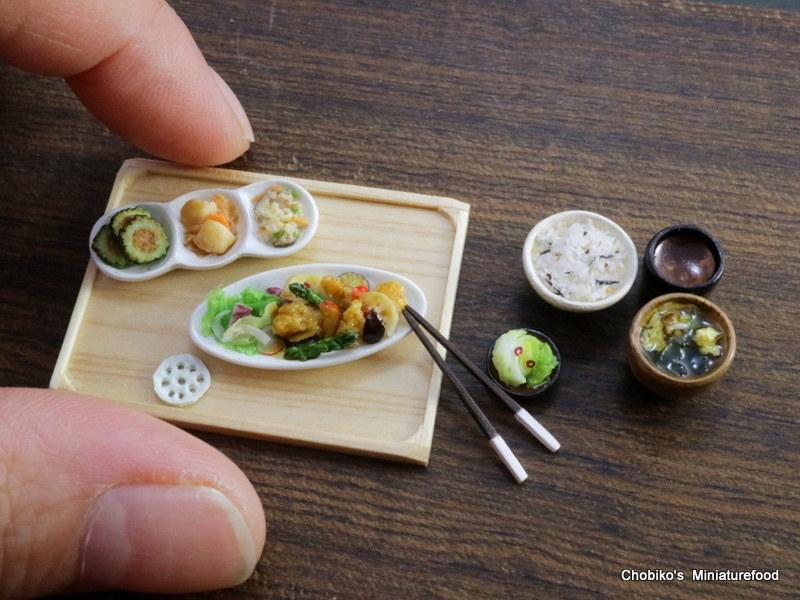 ちょび子★ミニチュア鶏肉の甘酢定食_画像8