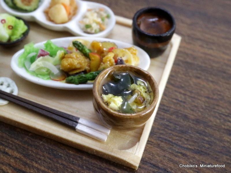 ちょび子★ミニチュア鶏肉の甘酢定食_画像7