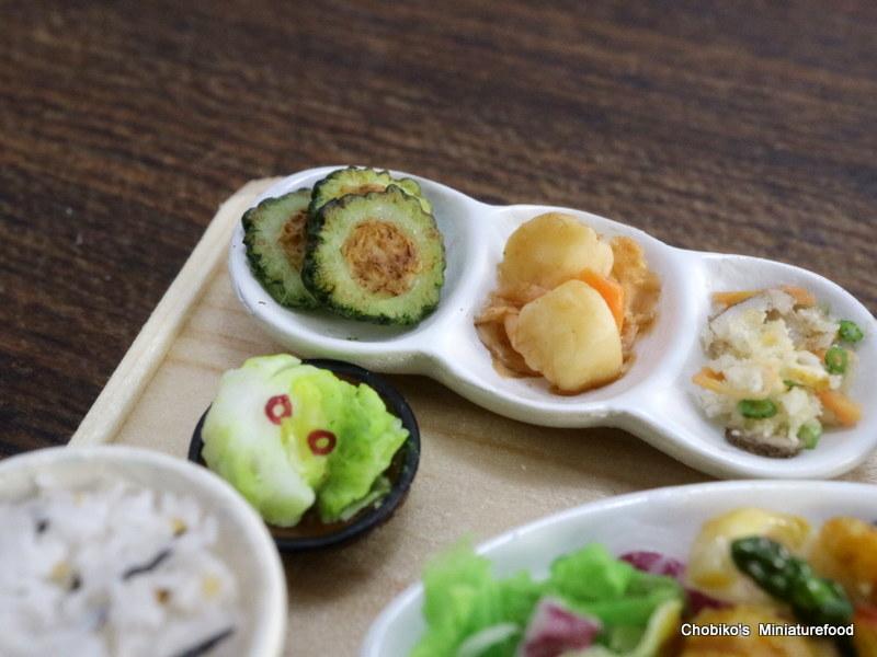 ちょび子★ミニチュア鶏肉の甘酢定食_画像9