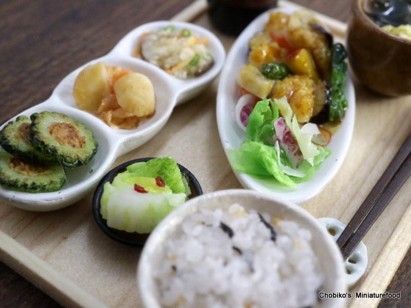 ちょび子★ミニチュア鶏肉の甘酢定食_画像4