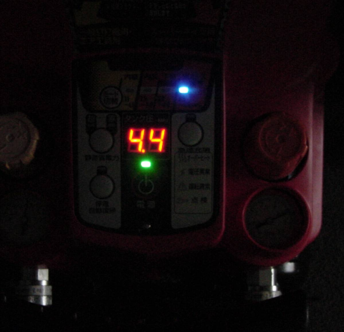 3ヶ月間保障付 MAXス-パーエアコンプレッサ AK-HH1250E  ③  満タン早い  静か 4口共高圧仕様 増設カプラ付_画像4