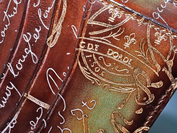 新品 ベルルッティ極希少 ゴールデン&シルバーパティーヌ BAMBOU TETRIS スクリットヴェネチアレザー カードケース 名刺入れ 本物 正規_画像3