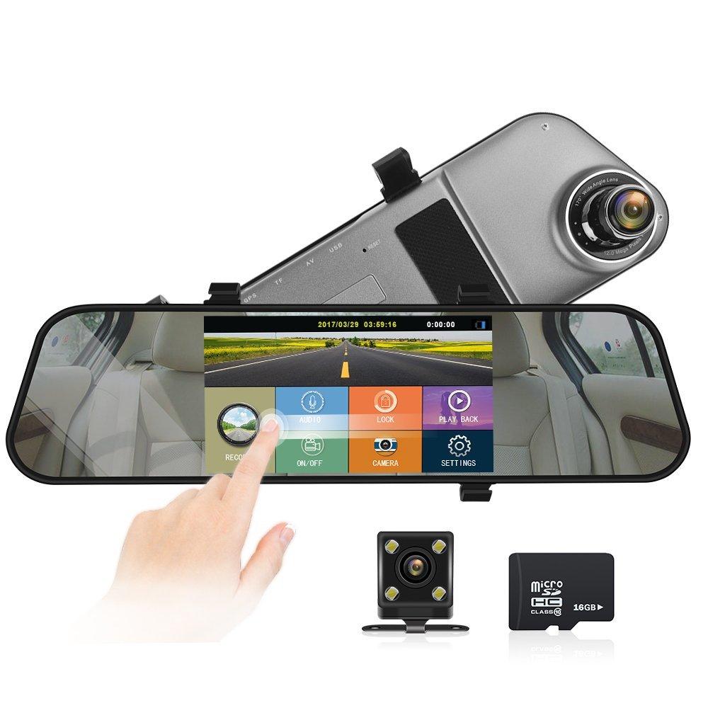 ドライブレコーダー ド 5.0インチバックラレコ 車載カメラmicroSDHCカード 16GB付属