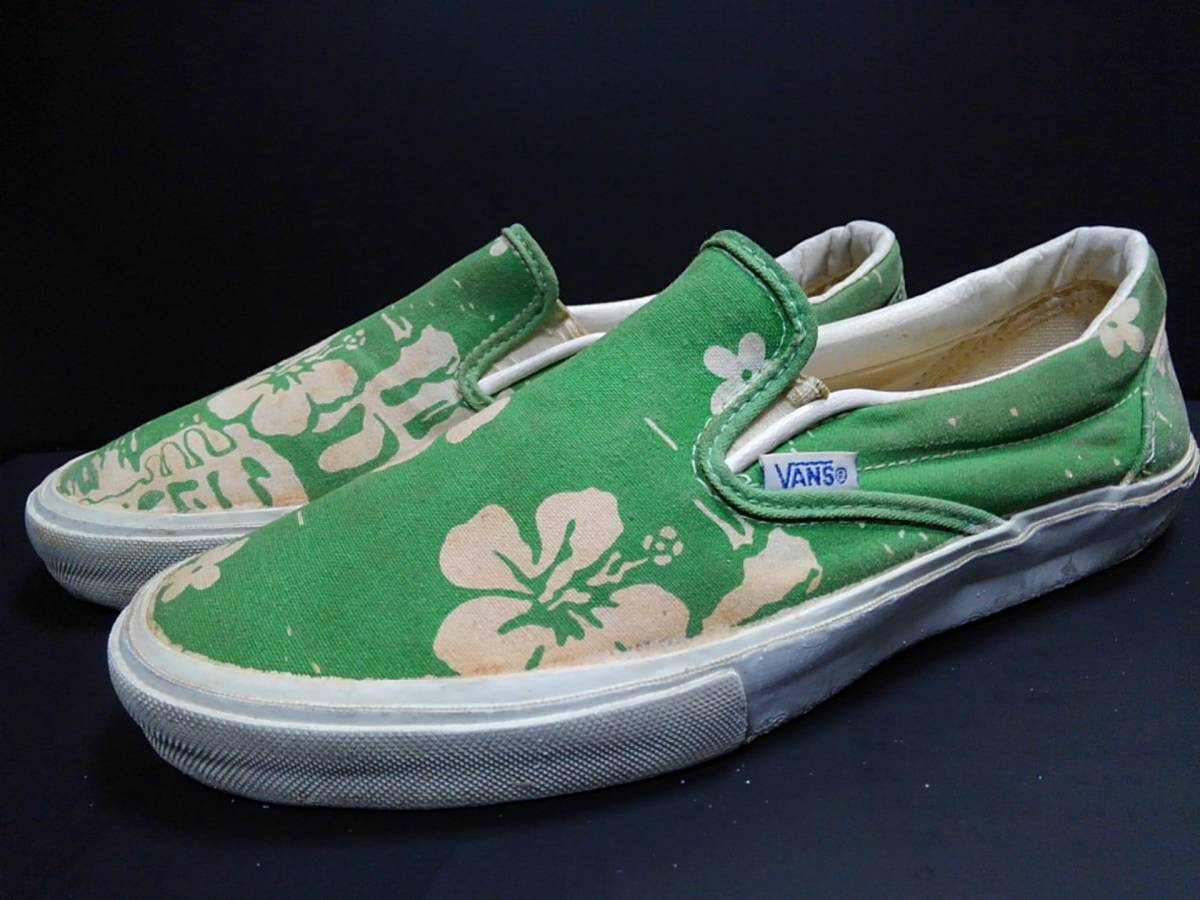2ff7b11244 Vans VANS records out of production America made MADE IN U.S.A.ei tea z  Vintage 80s