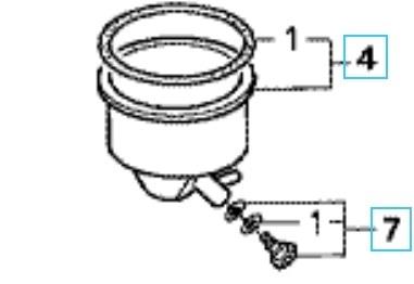 ■Honda ホンダ除雪機 キャブレターフロートチャンバーキット HS55 HS555 使用後のガソリン抜きが工具を使わずに排出可能_画像1