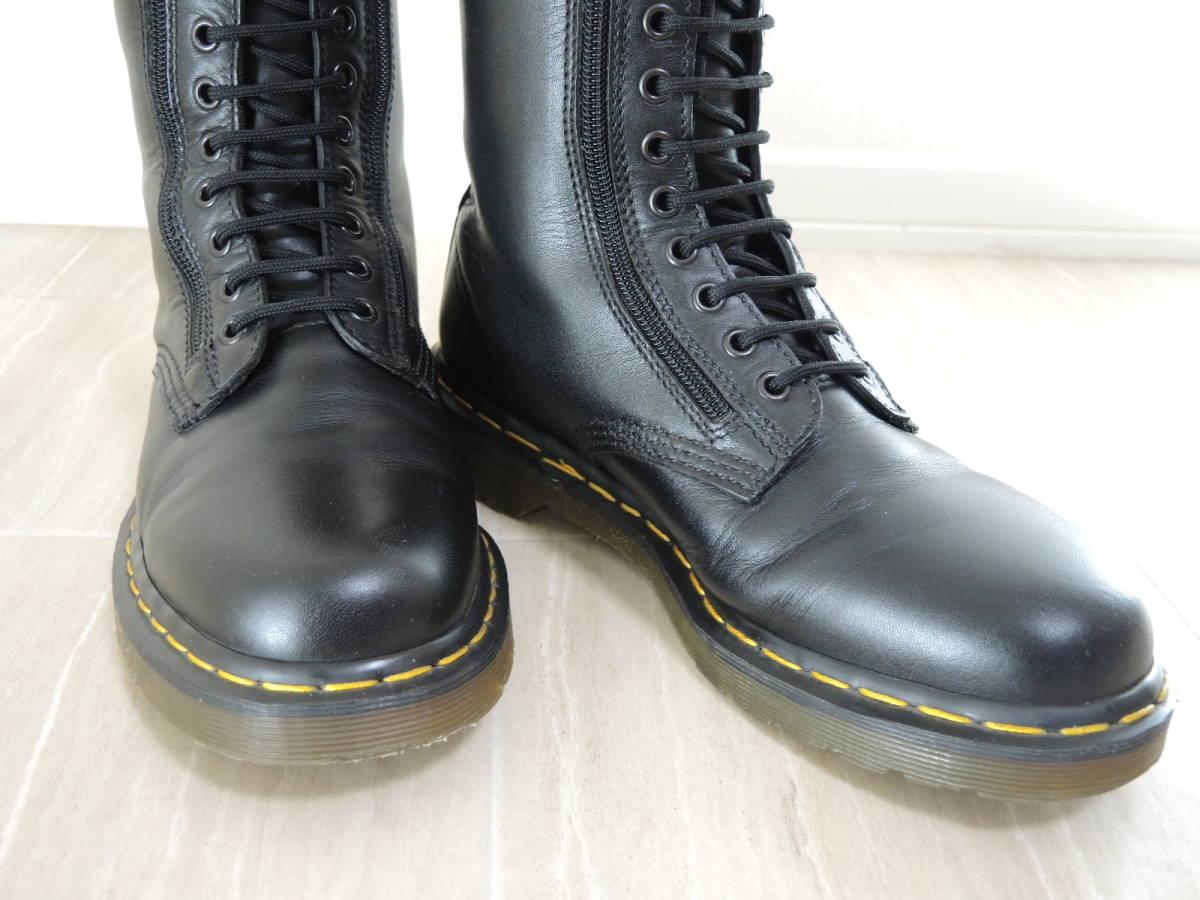 Dr.Martens ドクターマーチン 14ホール サイド ジップ zip ブーツ_画像3