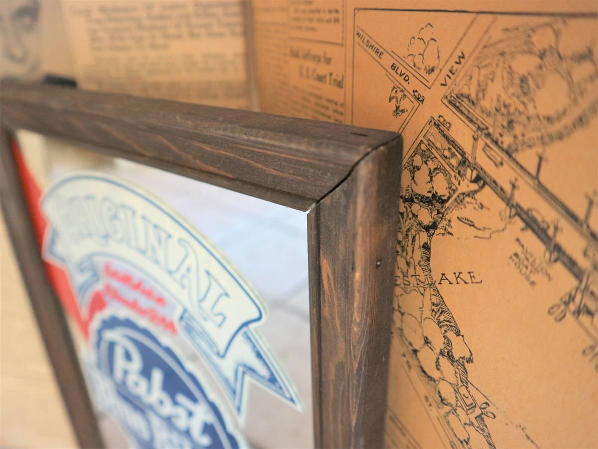 ビンテージ Pabst パブミラー 壁掛け 飾り ディスプレイ ウォールデコ インテリア BAR CAFE 店舗什器 額縁 アメリカ ビール_画像3