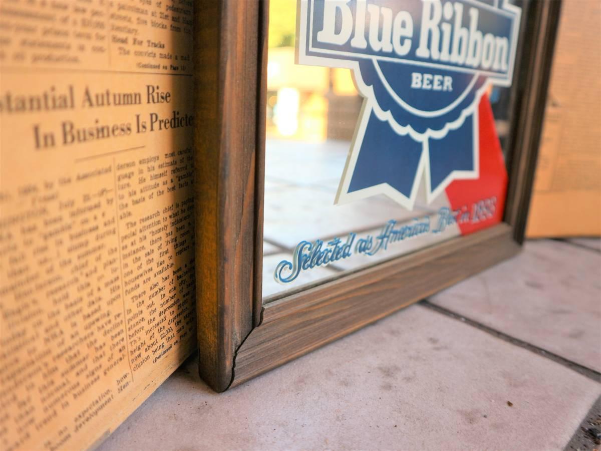 ビンテージ Pabst パブミラー 壁掛け 飾り ディスプレイ ウォールデコ インテリア BAR CAFE 店舗什器 額縁 アメリカ ビール_画像4