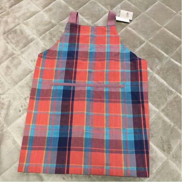 Children apron 110-120 size ☆ Orange ☆ new ☆