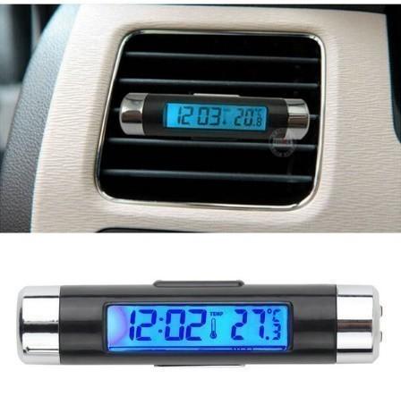 F185 1円~ 新品 未使用 自動車温度計 時計カレンダー 車のLCDクリップ デジタルバックライト (カラー:ブラック)_画像7