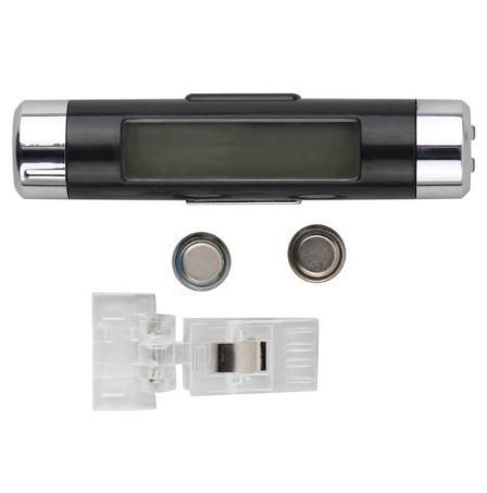 F185 1円~ 新品 未使用 自動車温度計 時計カレンダー 車のLCDクリップ デジタルバックライト (カラー:ブラック)_画像3
