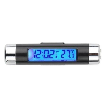 F185 1円~ 新品 未使用 自動車温度計 時計カレンダー 車のLCDクリップ デジタルバックライト (カラー:ブラック)_画像6