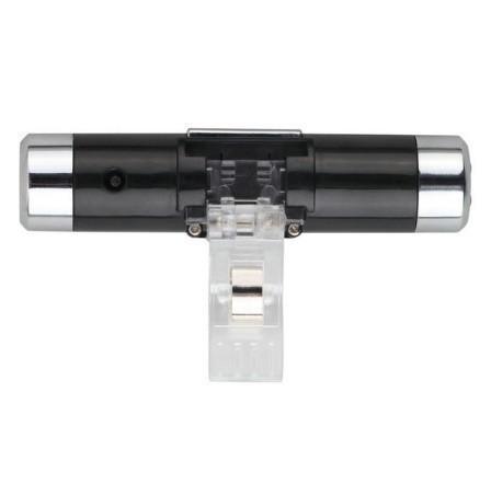 F185 1円~ 新品 未使用 自動車温度計 時計カレンダー 車のLCDクリップ デジタルバックライト (カラー:ブラック)_画像2