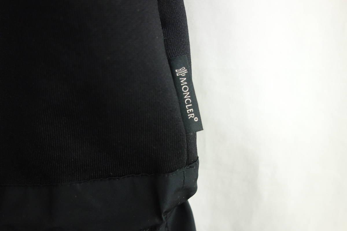 国内正規品 新品 MONCLER モンクレール ABITO 異素材 Aライン ワンピース 黒 イタリア製 S ポケット付き レターパック可_画像4