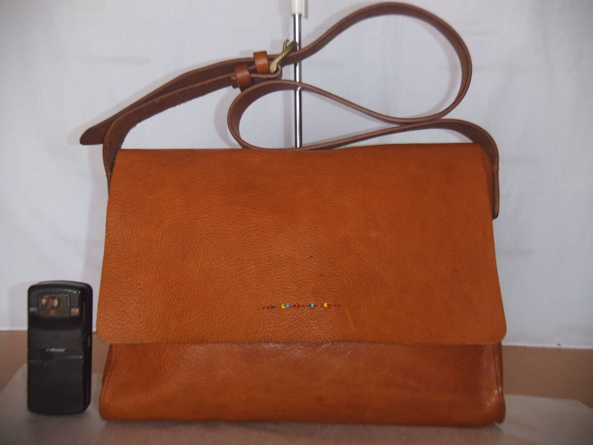 bb6474d706c8 代購代標第一品牌- 樂淘letao - SLOW スロウbono polish ボーノポリッシュ牛革レザーショルダーバッグ鞄バッグ