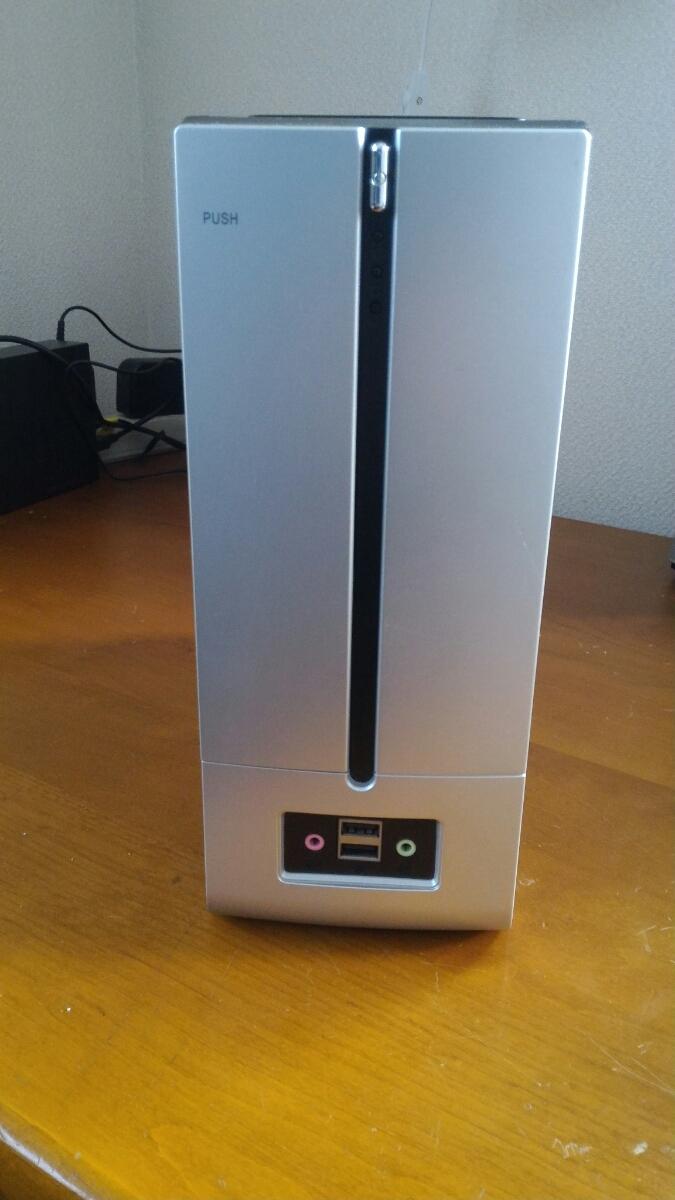 自作用PCケース MINI-ITX 小型 120w電源付き 中古_画像2