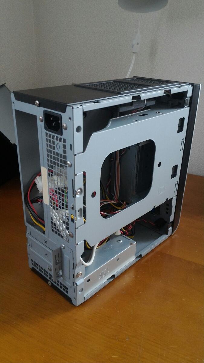 自作用PCケース MINI-ITX 小型 120w電源付き 中古_画像3