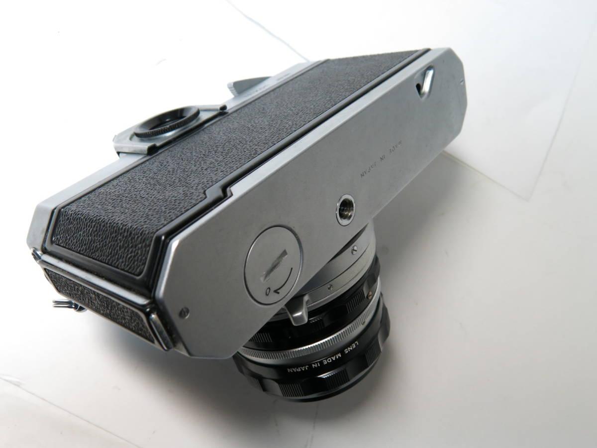 ニコンF フォトミック +ニッコール 50mm f1.4とニコマート、レンズなど付き やや難あり_画像8