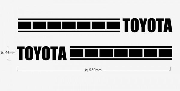 A0サイドラインステッカー★ストロボタイプ★TOYOTA★トヨタ★全15色から選べます★アクア アルファード ハイエース シエンタ CH-R など