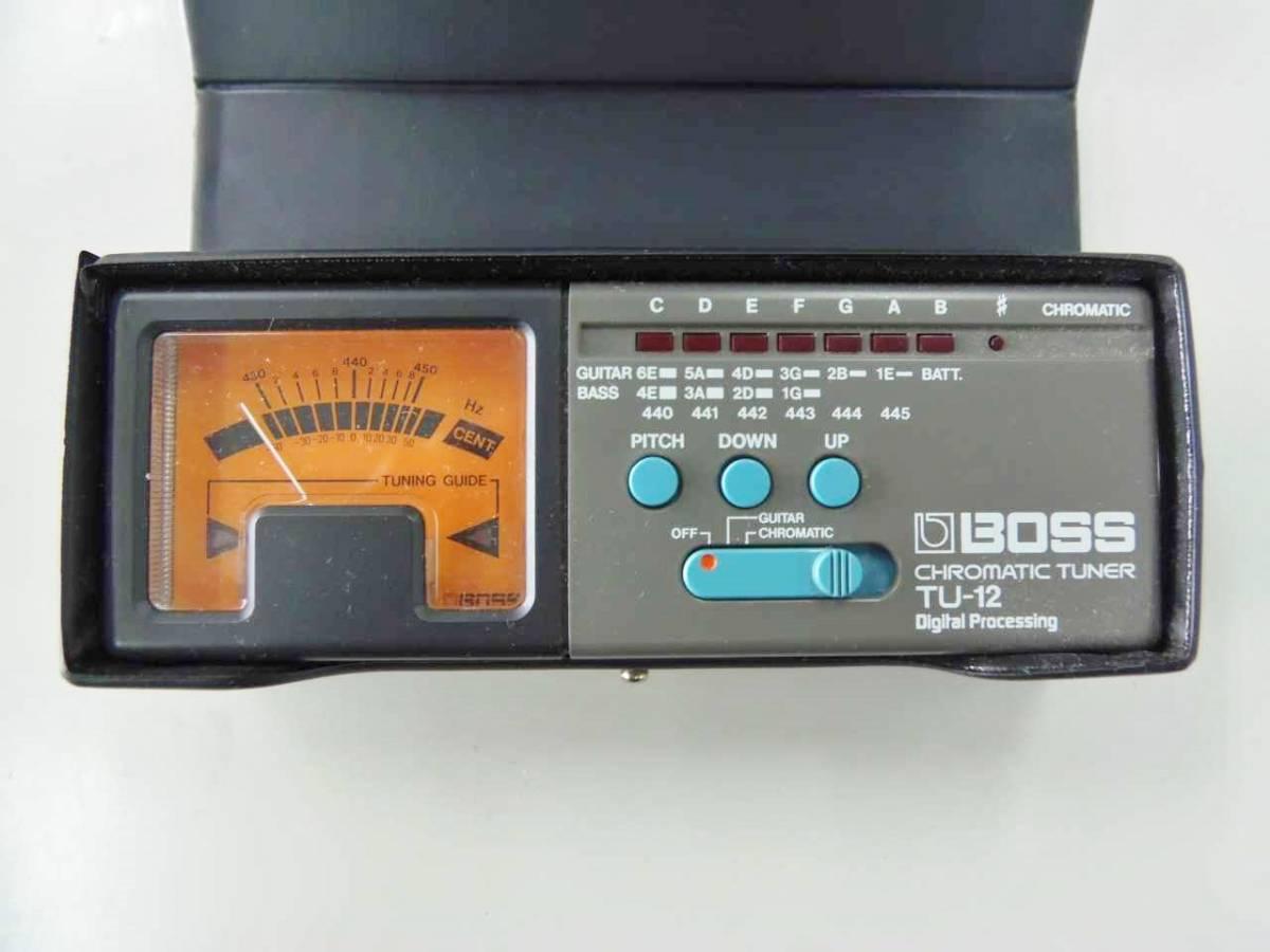 ●○【M02E10】 BOSS TU-12 クロマチックチューナー ギター ベース チューナー○●_付属品は写真にあるものがすべてです。