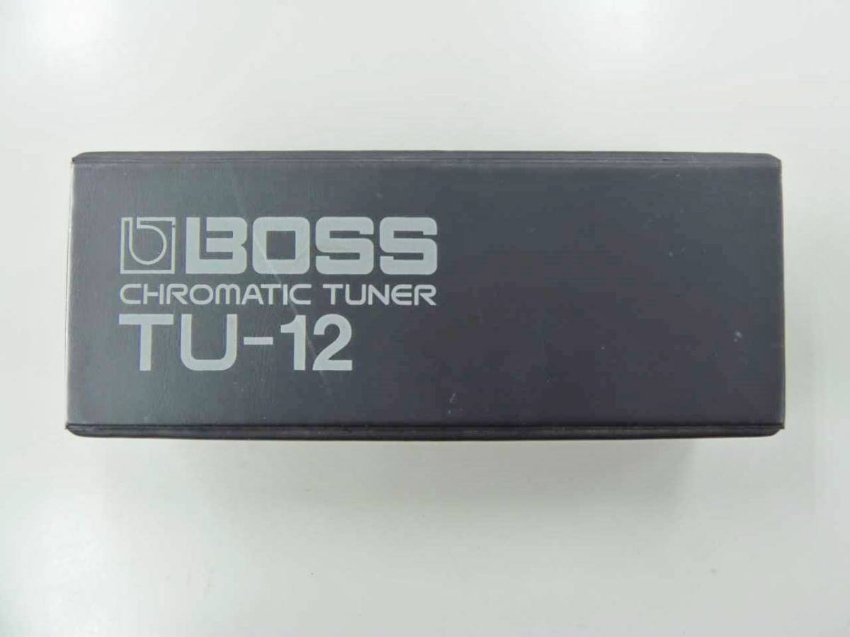 ●○【M02E10】 BOSS TU-12 クロマチックチューナー ギター ベース チューナー○●_画像2