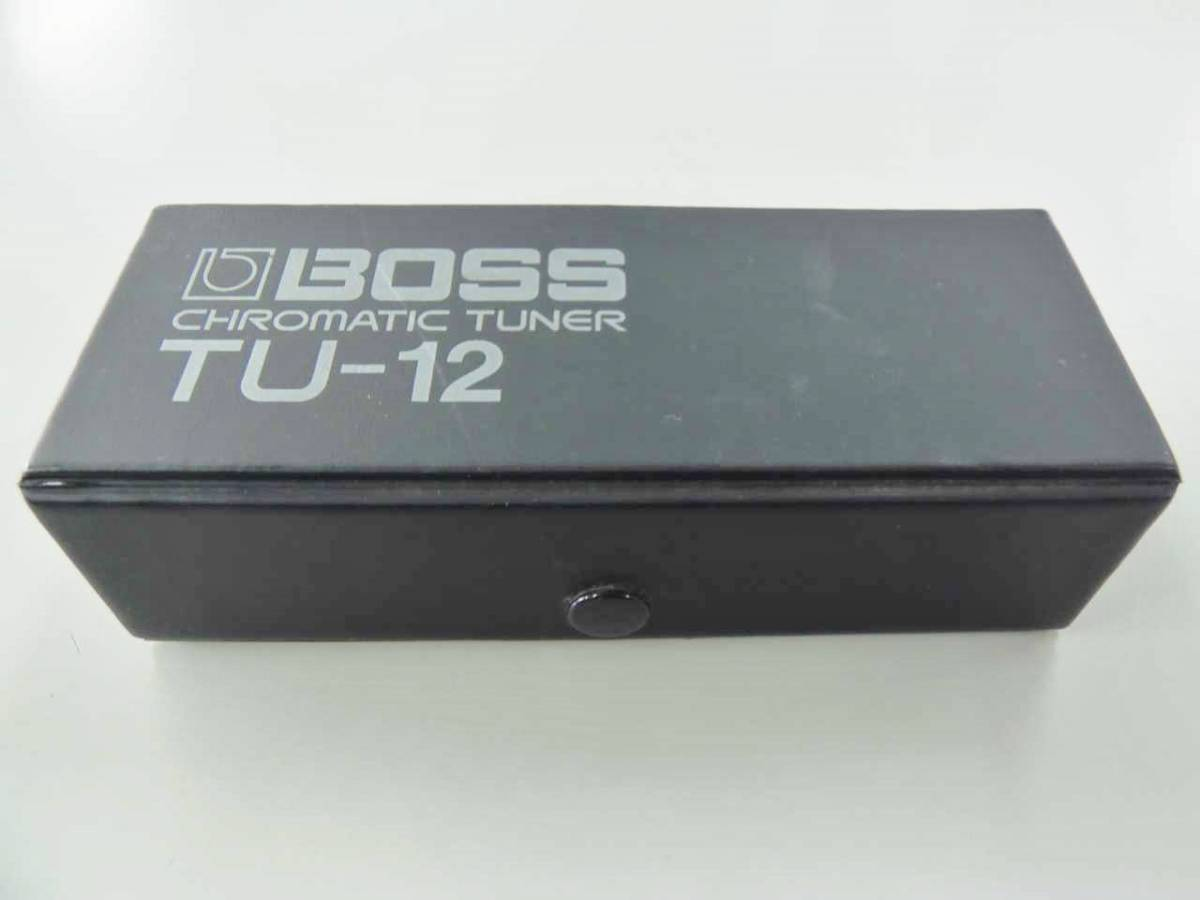●○【M02E10】 BOSS TU-12 クロマチックチューナー ギター ベース チューナー○●_画像7