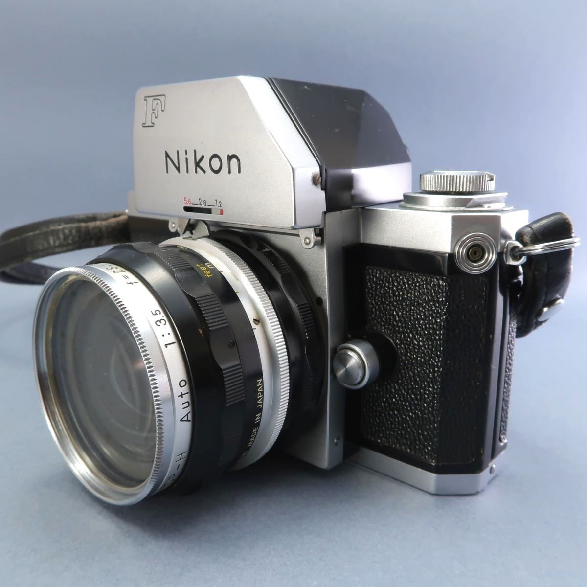★Nikon F フィルムカメラ 本体 レンズ Nikkor-Auto 105mm F 2.5 28mm F 3.5 NIKKOR-H Auto 1:3.5 f=2.8cm FTN 付属多数 ジャンク_画像2