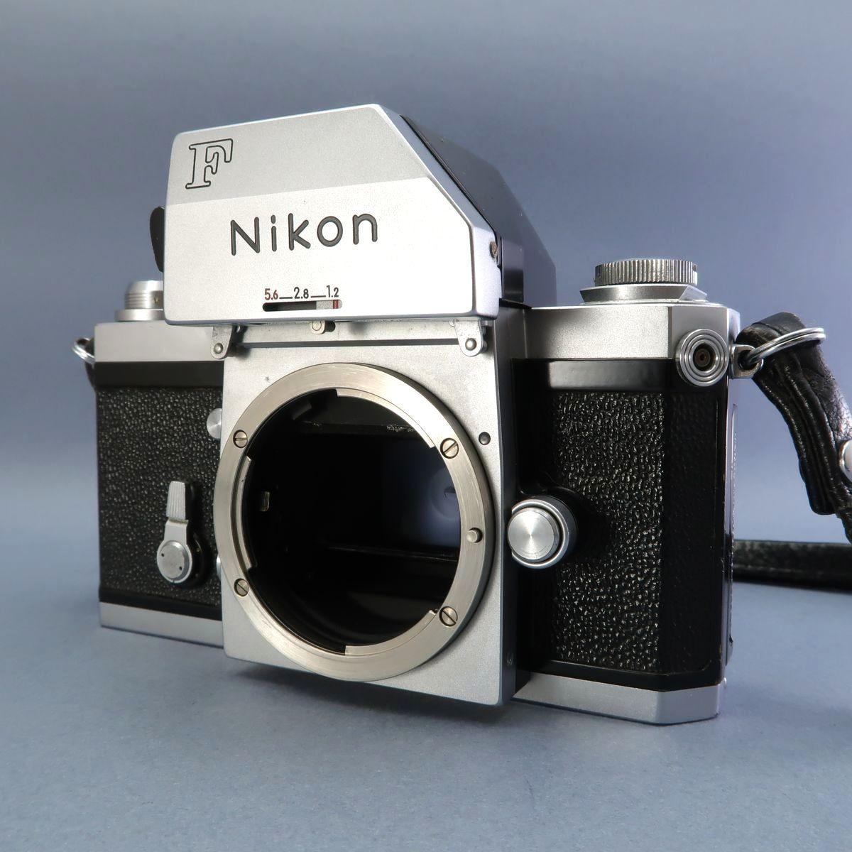 ★Nikon F フィルムカメラ 本体 レンズ Nikkor-Auto 105mm F 2.5 28mm F 3.5 NIKKOR-H Auto 1:3.5 f=2.8cm FTN 付属多数 ジャンク_画像3