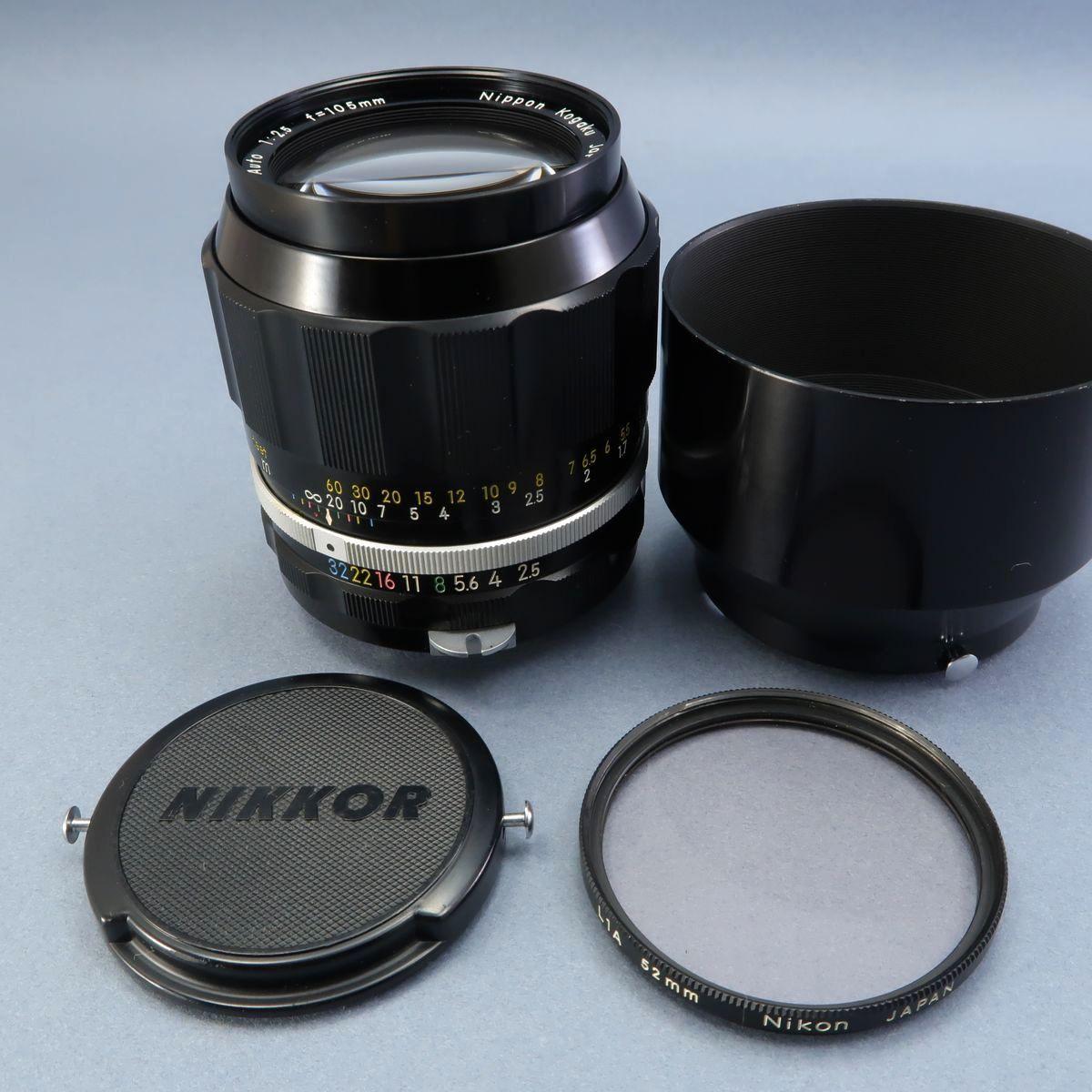 ★Nikon F フィルムカメラ 本体 レンズ Nikkor-Auto 105mm F 2.5 28mm F 3.5 NIKKOR-H Auto 1:3.5 f=2.8cm FTN 付属多数 ジャンク_画像8