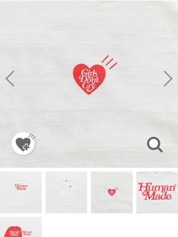 GIRLS DON'T CRY x human made ガールズドントクライ×ヒューマンメイド WHITE TEE サイズ L_画像2