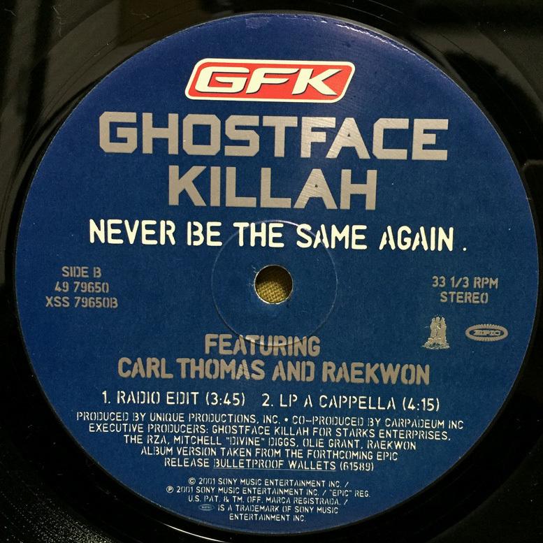 Ghostface Killah - Never Be The Same Again 【US ORIGINAL 12inch】 Carl Thomas Raekwon The RZA_画像4