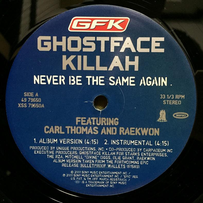 Ghostface Killah - Never Be The Same Again 【US ORIGINAL 12inch】 Carl Thomas Raekwon The RZA_画像3