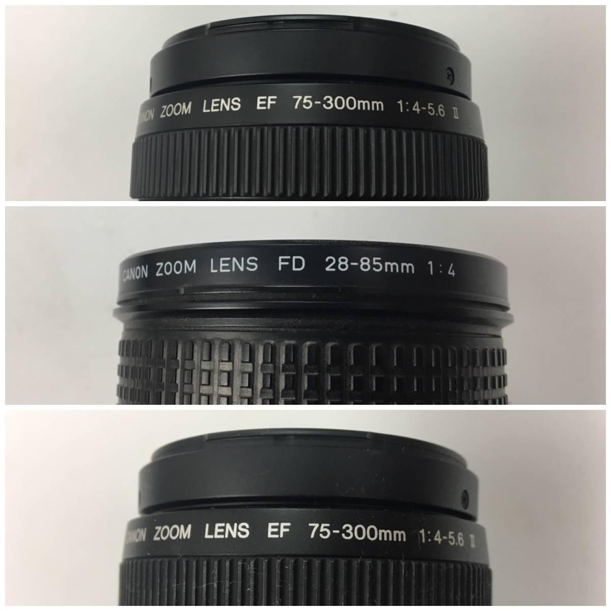 AZ-641 Cannon / キャノン デジタル一眼 カメラ レンズ アクセサリー ケース まとめて EOS kiss Ⅱ IX50 FD200㎜ Canon 100mm f3.5_画像3