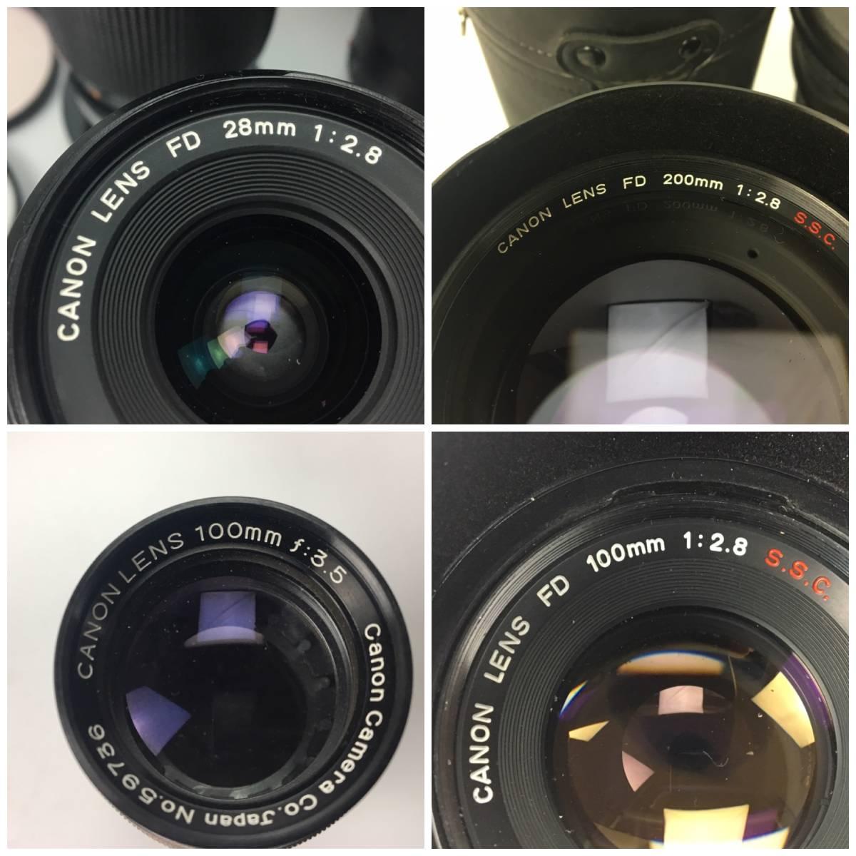 AZ-641 Cannon / キャノン デジタル一眼 カメラ レンズ アクセサリー ケース まとめて EOS kiss Ⅱ IX50 FD200㎜ Canon 100mm f3.5_画像4