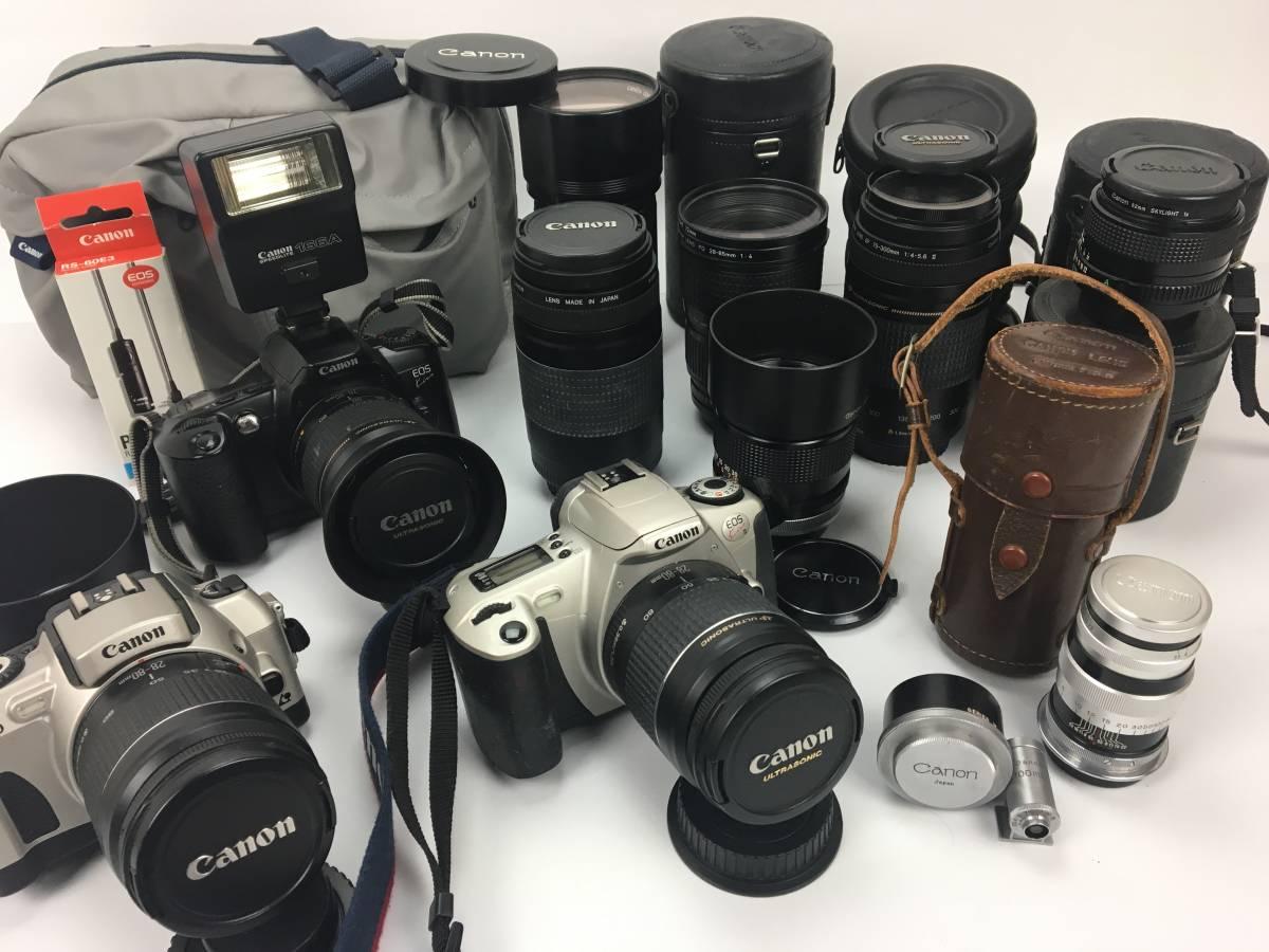 AZ-641 Cannon / キャノン デジタル一眼 カメラ レンズ アクセサリー ケース まとめて EOS kiss Ⅱ IX50 FD200㎜ Canon 100mm f3.5