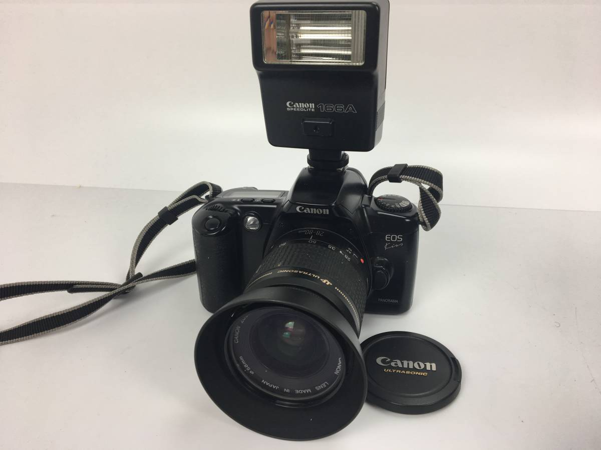 AZ-641 Cannon / キャノン デジタル一眼 カメラ レンズ アクセサリー ケース まとめて EOS kiss Ⅱ IX50 FD200㎜ Canon 100mm f3.5_画像6