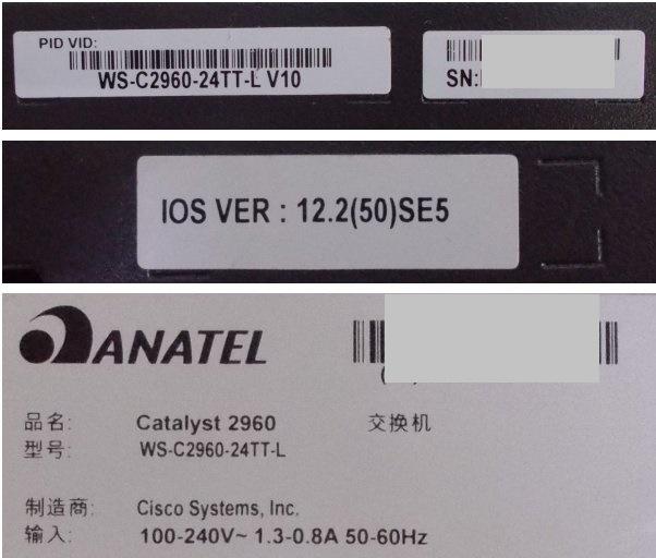 Cisco Catalyst インテリジェント イーサネット スイッチ WS-C2960-24TT-L V10 12 2(50)SE5 初期化済み  ■■■