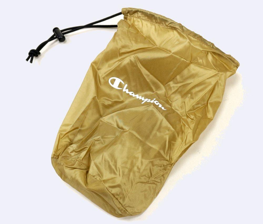 新品 限定品 Champion チャンピオン ノーカラーナイロンダウンジャケット M ジップアップ 収納袋付き ◆QN126A_画像8