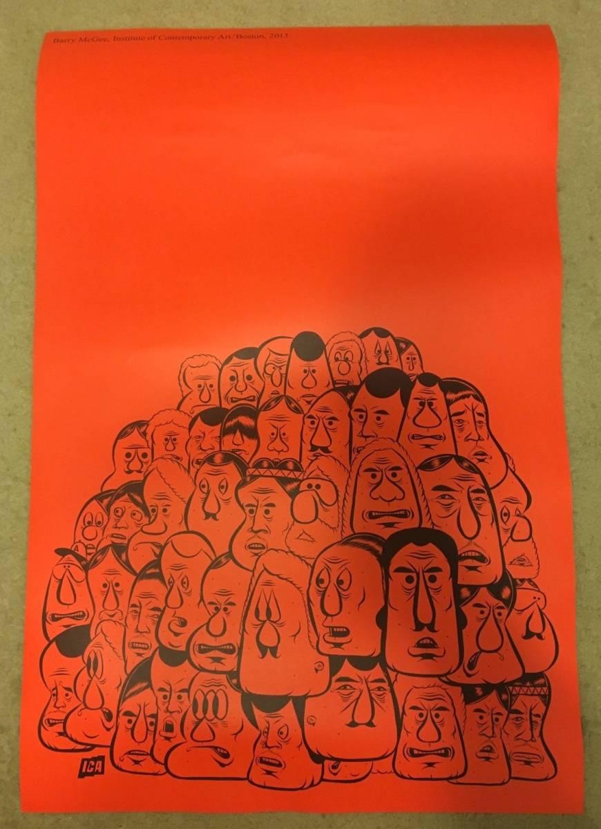 【新品レア】バリーマッギー 大型両面 ポスター BARRY MCGEE kaws Banksy 910㎜×610㎜ 2013ボストン現代美術館ICA限定